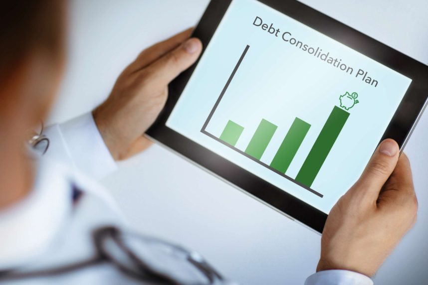 Debt Consolidation Plan on an iPad